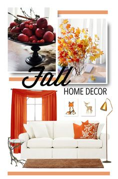 """""""Fall Home Decor"""" by onemonday ❤ liked on Polyvore featuring interior, interiors, interior design, home, home decor, interior decorating, Baldwin, Karl Lagerfeld and Liora Manné"""
