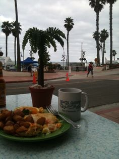 Eggs, potatoes and ocean views served up daily at the Beach Garden Cafe in San Clemente, across from the pier on Avenida Victoria