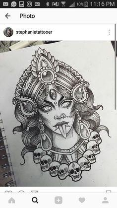 Krishna Tattoo, Kali Tattoo, Tattoo Design Drawings, Tattoo Sketches, Tattoo Deus, Colorful Sleeve Tattoos, Hindu Tattoos, Aztec Tattoo Designs, Leg Art