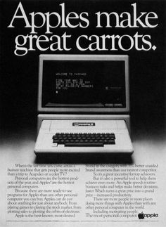The Evolution of Apple Ads | 1980s  Appealing to business leaders -buy an Apple as an incentive and a motivational tool.