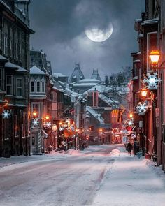Wintry night at St. Louis Street - one of the oldest streets in Quebec City . - Wintry night at St. Louis Street – one of the oldest streets in : Wintry night at St. Louis Street - one of the oldest streets in Quebec City . - Wintry n Winter Scenery, Photos Voyages, Winter Pictures, Winter Images, Quebec City, Cozy Place, Winter Photography, Nature Photography, Travel Photography
