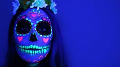 Black Light UV Skull! Such an awesome costume! Head Turner for sure!