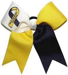 Down's Syndrome Awareness Bow for wearing to a game for down syndrome awareness!