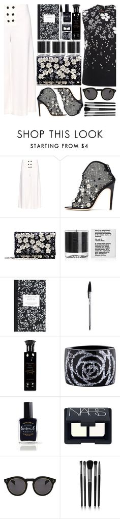 """""""""""I must have flowers, always, and always."""""""" by beautifully-eclectic ❤ liked on Polyvore featuring Proenza Schouler, Rupert Sanderson, Oscar de la Renta, Baxter of California, Dot & Bo, Profumi Del Forte, Chanel, Lauren B. Beauty, NARS Cosmetics and Illesteva"""