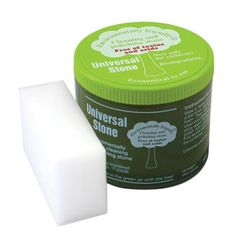 Universal Stone Cleaning & Polishing Stone - 800g. Cleans, Polishes, and Preserves! Great on any surface!  Removes lime and hard water deposits, permanent marker, grease, and those hard to clean stains.  - Non-toxic, acid free - Safe for children and pets - All natural ingredients - Gentle on skin - Allergy friendly - Phosphor free  Call Hermas: 905-885-9250.