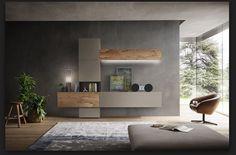 Composizione soggiorno appesa Napol da cm 307