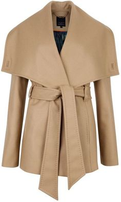 Ted Baker Matild Short Wrap Coat in Beige (cream) Passion For Fashion, Love Fashion, Long Beige Coat, Ted Baker Shorts, Wrap Coat, Look Chic, Autumn Winter Fashion, Polyvore, Clothes For Women