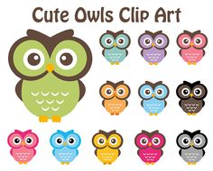 BUY 2 GET 2 FREE  Cute Owl Clipart  Owl by DennisGraphicDesign, $5.00