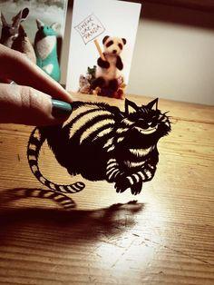 Cheshire Cat - Original Papercut by PaperPandaCuts.deviantart.com on @DeviantArt