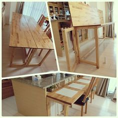 Kitchen/カウンターテーブル DIY/ダイニングテーブルDIYのインテリア実例 - 2017-05-13 05:55:52 Wood Crafts, Diy And Crafts, Furniture Collection, Diy Kitchen, Drafting Desk, Woodworking, Room, Inspiration, Home Decor