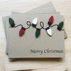 Stock up on this simple, unique set of Christmas light cards. These are perfect to give out to everyone on your list this year. Make sure your holiday cards st