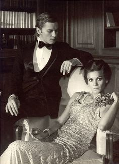 Florinda Bolkan and Helmut Berger in 'The Damned'(original title:'La caduta degli Dei'), directed by Luchino Visconti - 1969.