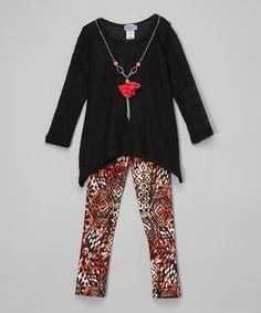 Black Tunic Set - Girls