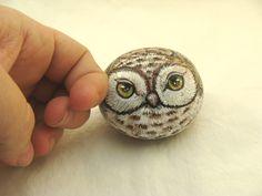 Painted Rocks, brown owl - bjl
