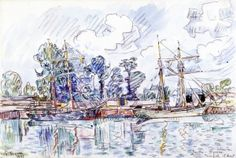 Boats in the Port - Paul Signac - The Athenaeum