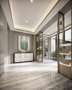 Home Interior Drawing on Behance Home Entrance Decor, Entrance Design, Home Decor, Lobby Interior, Luxury Interior, Interior Design, Flur Design, Hallway Designs, Luxurious Bedrooms