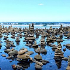 Carisbrook Creek Stone Arrangements. Thousands of cairns stacked up on the beach and river bed. Well worth the stop on the Great Ocean Road. Cairns, Sydney Australia, Travel Ideas, Melbourne, Destinations