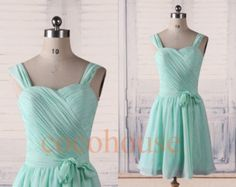 New Short Mint Bridesmaid Dresses 2015, Simple Prom Dresses, Hot Prom Dresses, Homecoming Dresses, Evening Dresses, Wedding Party Dresses