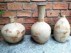 Earth Matt White Pottery vases www.annampottery.com