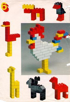 LEGO 222 Building Ideas Book instructions displayed page by page to help you build this amazing LEGO Books set Lego Duplo, Lego Toys, Lego Design, Instructions Lego, Lego Therapy, Lego Challenge, Lego Club, Lego Craft, Lego For Kids
