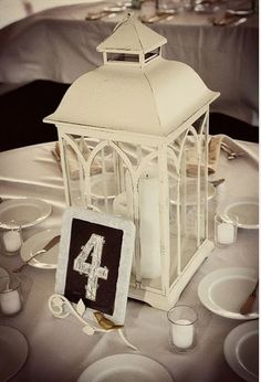 Chalkboard table numbers are a sweet #rustic touch, and an easy #DIY! #rusticweddings
