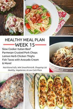 Healthy Meal Plans Week 15 - Slender Kitchen