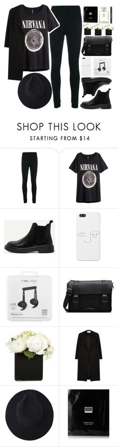 """""""Nirvana"""" by la-lunar-eclipse ❤ liked on Polyvore featuring Fendi, H&M, Topman, Dr. Martens, Paper Whites, River Island, Erno Laszlo, Chanel and modern"""