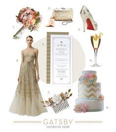 Glitz and Gold Jazz Age Wedding Inspiration