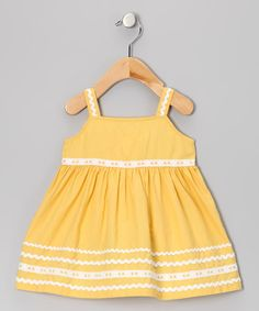 Take a look at this Yellow & White Resort Dress - Infant, Toddler & Girls by Beebay on #zulily today!