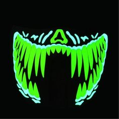 Escolourful Voice Control/LED Mask Half Face Frightening Flash Masks Halloween Party Mascaras Carnaval Christams