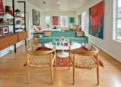 """""""This bright eclectic residence was designed by Chris Nguyen of Analog