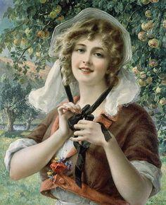 Emile Vernon! Emile Vernon (Blois, França, 1872 – 1920) Pintor de retratos e cenas de gênero. Viveu em Paris e Londres. Estudante na Escola de Belas Artes, em Tours, ganhou seu primeiro prêmio de d…
