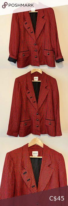 I just added this listing on Poshmark: Vintage red houndstooth blazer. #shopmycloset #poshmark #fashion #shopping #style #forsale #Vintage #Jackets & Blazers