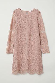 Short Lace Dress | Vintage pink | WOMEN | H&M US
