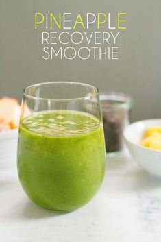 Decrease inflammation with this Pineapple Recovery Smoothie!