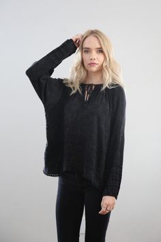 Scoot's Pick: The Sun Faded Isabel Blouse in Black