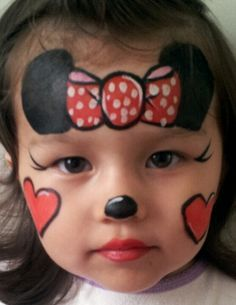 easy Minnie Mouse face paint   Face Painting   Pinterest   Mouse ...