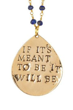 """If It's Meant To Be"" Sapphire Pendant Necklace"