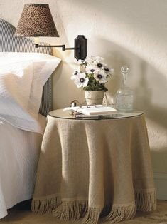 How to chalk paint stencil burlap tablecloths project pinterest round bedside table covers in case your room is small look for a rectangular table the same depth as your couch but relatively slim inches watchthetrailerfo