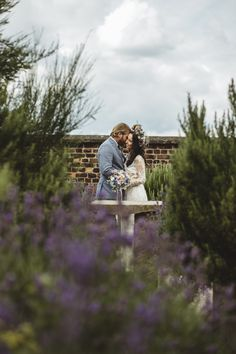 A special moment for the wedding couple amongst the lavender in the apothecary's garden at Sheffield Manor Lodge Lodge Wedding, Wedding Couples, Diy Wedding, Wedding Ceremony, Wedding Venues, Reception, Oaks House, Outside Games, Indoor Wedding Ceremonies