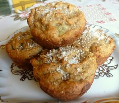 Coconut Pineapple Muffins (I use a little less sweetener than the recipe calls for--and proportionally more erythritol than Splenda.)