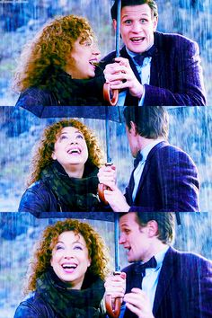 I realize this is from Doctor Who but it is just so darn cute that I feel like it could be a nice couples photo idea. Playing in the rain together :)