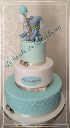 Elephant cake - Cake by graziastellina Torta Baby Shower, Baby Boy Shower, Pretty Cakes, Beautiful Cakes, Fantasy Cake, Elephant Cakes, Animal Cakes, Blue Cakes, Wedding Cake Designs