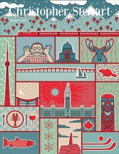 O Canada - January 2016 Portfolio Covers, O Canada, Wine Art, January 2016, All Art, Cover Art, Kids Rugs, Quilts, Create