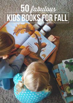 Great list of 50 fabulous kids books for Fall. #reading #kids #books