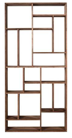 My kind of bookshelf - from Boknäs.    M -avohylly, tiikki - Ethnicraft