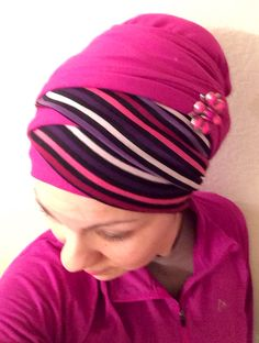 Judith de Paris Hairwear Criss Cross Turban  Broach from Wrapunzel The Store!