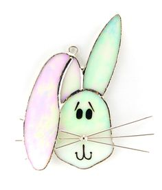 Bunny Stained glass night light cover. Remember to look for our rotating plug on our website!