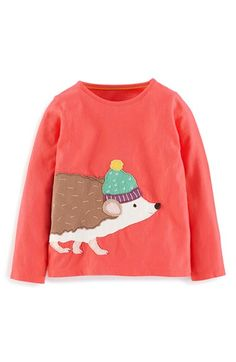 Mini Boden 'Big Appliqué' Long Sleeve Cotton Jersey Tee (Toddler Girls, Little Girls & Big Girls) available at #Nordstrom