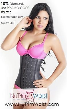 The ultimate waist training corset - simply the best! Perfect for getting that hour glass figure! This is the #1 Selling Waist Training style in the USA! The NuTrim Waist Slim corset girdle body shaper, with triple hook-and-eye closure; controls and slims the waistline and abdomen providing a beautiful silhouette.  Exterior Layer: Natural Latex rubber 100%.  Interior layer: Natural Latex rubber 100%  Lining: Cotton 91%, Spandex 9%